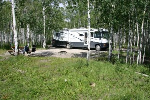Camping by the Mackenzie RIver