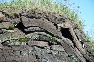 Layers of sod create the walls