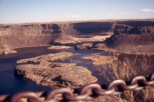 Distant edge of Dry Falls