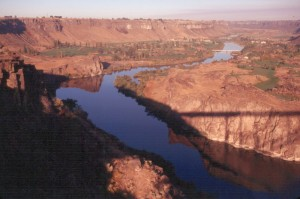 Shadow of the Perrine Bridge.
