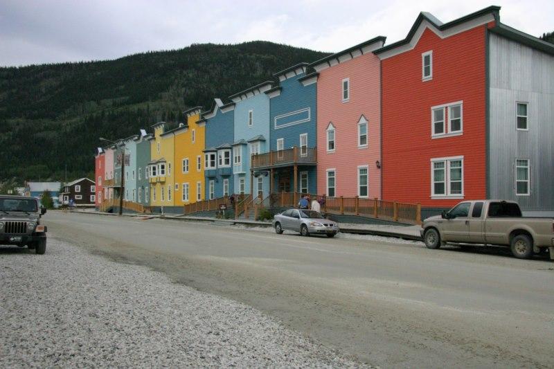 Colourfull downtown Dawson City