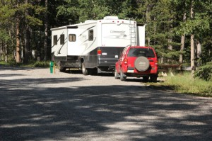 Motorhome in Tunnel Mtn. Campground