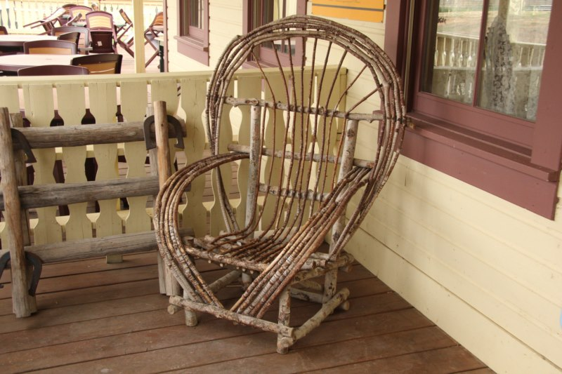 Enjoy and old rocking chair on the veranda.