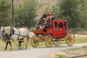 Stagecoach takes you on a portion of the Cariboo Road.