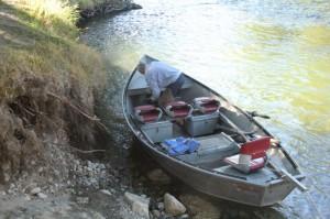 Boat used in river float.
